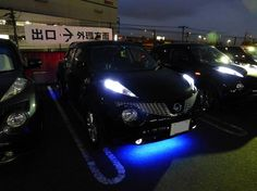 Nissan Juke with ground effects LED's