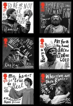 Royal Mail Stamps by Marion Deuchars. Using old imagery with modern typography