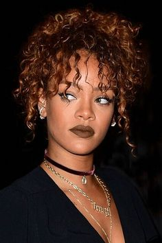 """14 Times Rihanna Made Us Want To Wear Rainbow Lipstick #refinery29  http://www.refinery29.com/2015/09/93967/rihanna-best-colored-lipstick-looks#slide-10  This nod to the '90s was all Rihanna's doing. """"I've trained her to do her own makeup,"""" Morales says. """"So that if she decided to go out, she can basically apply her face pretty nicely."""" And leave it to the Bad Gal to do just that and have us all wanting to resurrect all those brown lipsticks from back in the day...."""