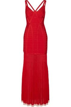 Hervé Léger - Zhenya Cutout Bandage Gown - Red - medium