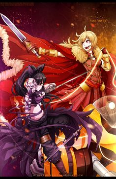 Fate/Zero x RWBY : Golden Rider / Black Assassin by dishwasher1910 Another glorious Fate/Zero crossover! Epic!