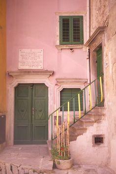 The town of Labin. Located in Istria, Croatia