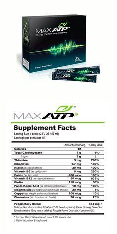 MaxATP™ Repone la energía y combate la fatiga. Neutraliza radicales libres y el estrés oxidativo. Mejora la recuperación después de hacer ejercicios.
