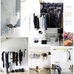 Top 5 creative DIY rolling racks #clothingracks #DIY