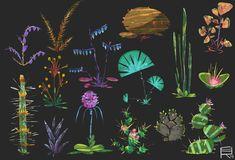 ArtStation - Plants sheets, Romwald Bogun