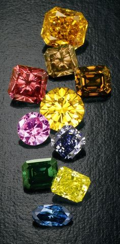 Natural Color Diamonds ...Not just White!! Bet these rarities are something special.