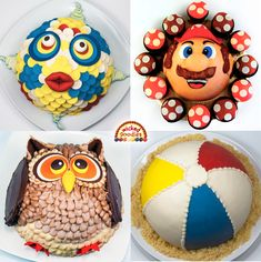 Tutorial with step-by-step instructions on how to bake, fill, frost and decorate hemisphere and full sphere globe or ball-shaped cakes Cake Decorating Icing, Creative Cake Decorating, Creative Cakes, Cupcake Cakes, 3d Cakes, Cupcake Ideas, Make Birthday Cake, 3rd Birthday, Pokeball Cake