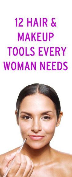 12 hair & makeup tools every woman needs