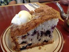 Enjoy this classic blueberry coffee cake recipe.