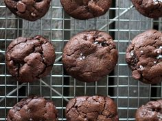 Double Chocolate Chip Cookies with a sprinkle of sea salt. A sweet and salty chewy cookie packed with lots of chocolate flavor!