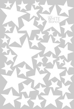 White little stars Wall Decal Vinyl StickerLittle by NicolasitoEs