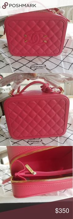 Chanel 1 hour sale ⚠️⚠️⚠️ New still has packaging on the bag, purchased from another seller but the color didn't work out. It's a coral pink the caviar is nice it is real leather but this is not a 3000 dollars bag from the fashion house this is more so if you like the style. Please do your own research before asking questions this is a size Medium. 21cm CHANEL Accessories