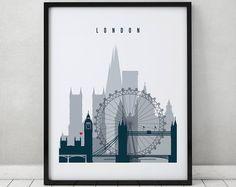 London watercolor print watercolor poster Wall art London