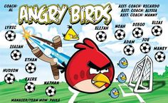 Angry-Birds-151626 digitally printed vinyl soccer sports team banner. Made in the USA and shipped fast by BannersUSA. www.bannersusa.com