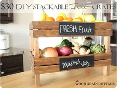 DIY Home Decor | Find out how to make your own stackable fruit crate inspired by Pottery Barn