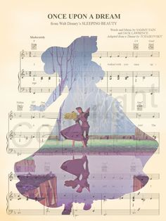Sleeping Beauty Aurora Silhouette Once Upon A Dream Sheet Music Art Print - Crochet Braid Styles Sleeping Beauty Tattoo, Disney Sleeping Beauty, Mary Poppins, Disney Princess Aurora, Princes Aurora, Disney Princesses, Sheet Music Art, Silhouette, Find Picture