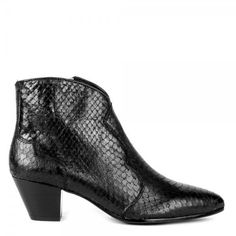 Ash Hurrican textured leather boots, Black