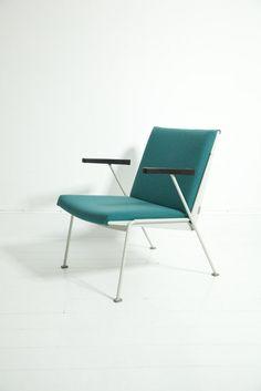 Wim Rietveld, Painted Steel Frame 'Oase' Armchair for Gispen, 1959.
