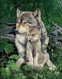 Image result for mother wolf and cubs tattoo