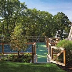 Custom Tennis Court Fence Enclosure by Walpole Outdoors - Outdoor Cabinetry - Modenus Catalog Home Basketball Court, Sports Court, Outdoor Spaces, Outdoor Living, Walpole Outdoors, Garden Design, House Design, Backyard Furniture, House Goals