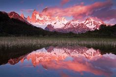 Reflections of FitzRoy at sunrise (Argentina)