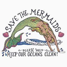 save the sirens Real Mermaids, Mermaids And Mermen, Mermaids Exist, Pretty Mermaids, Sirens, Art Tumblr, Frida Art, Save Our Oceans, Humor Grafico