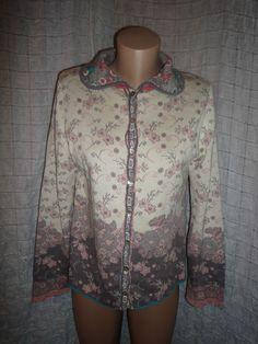 Incredible IVKO soft cotton sweater cardigan size L (14-16 UK) #IVKO #Cardigans