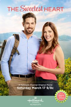 The Sweetest Heart - Maddie (Julie Gonzalo) and Nate (Chris McNally) learn that you can't run away from love on March 17 9/8c on Hallmark Channel.  #TheSweetestHeart #HallmarkChannel #SpringFever