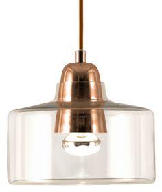 Topp taklampe kobber Let Your Light Shine, Home And Living, Ceiling Lights, Lighting, Glass, Design, Home Decor, Basements, Diamond