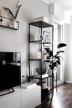 home decor ikea living room inspo Home Living Room, Apartment Living, Living Room Designs, Living Room Gray, Living Room Accents, Kitchen Living, Home Accents, Kitchen Decor, Grey Wall Decor