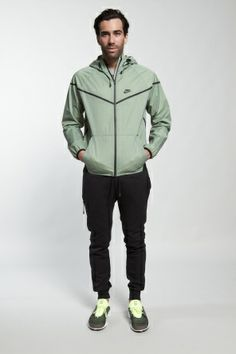 Shop for Nike Sportswear Outerwear for Men | Windrunner Tech Jacket Mesh in Base Grey/Black | Incu