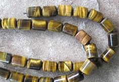 Barrel Big Hole Bead Large Tiger Eye Golden by jewelrycatsupplies, $5.50