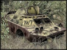 Chernobyl disaster armored  personnel vehicle.