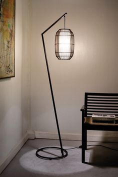 Hive [design by hive] - KAI 'Z' Floor Lamp - Lounge room lit up! Room Lights, Light And Shadow, Lamp Design, Floor Lamps, Floor Mirrors, Lamp Light, Home Furnishings, New Homes, Contemporary