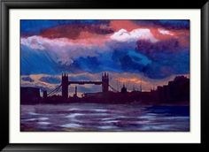 Abstract London Painting - Abstract london -London Skyline- Tower bridge - Signed Print - x inches-holiday gift idea England art landscape cityscape Colorful Artwork, Artwork Prints, London Painting, London Skyline, Painting Abstract, Tower Bridge, Landscape Art, Artsy Fartsy, Art Images