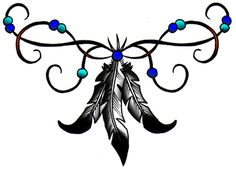 Native American Feathers Tattoo, if i were to ever get a tramp stamp #cultural #tattoo #tattoos