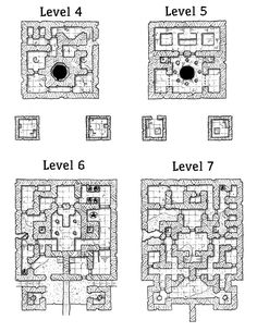 Dungeon Tiles from Dragon Magazine Mortis, Lost and the