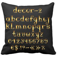Gold Letter Design with Black Pillow Case Sofa Cusion #BlackPillowcase #GoldLetterDesign #CustomPillowcase #SofaCushion # AlphabetPillow https://www.amazon.com/Letter-Design-Black-Pillow-Cusion/dp/B01I1AIQME?ie=UTF8&*Version*=1&*entries*=0