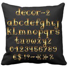 Gold Letter Design with Black Pillow Case Sofa Cusion #BlackPillowcase #GoldLetterDesign #CustomPillowcase #SofaCushion # AlphabetPillow https://www.amazon.com/Letter-Design-Black-Pillow-Cusion/dp/B01I1AIQME?ie=UTF8&*Version*=1&*entries*=0