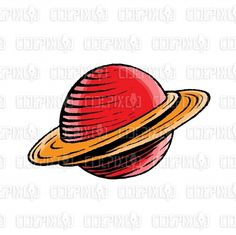 illustration by cidepix #drawing #vectorillustration #illustration #design #designs #vector #vectors #clipart #ink #sketch #watercolor #planet #saturn #space