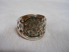 Prairie Petals  Antique Sterling Silver Spoon by WoodsEdgeJewelry