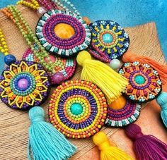 Custom design necklaces for order whatsapp 05373869917 - Jewellery Bead Embroidery Jewelry, Textile Jewelry, Bead Jewellery, Fabric Jewelry, Beaded Embroidery, Hand Embroidery, Beaded Jewelry, Handmade Jewelry, Sugar Beads