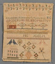 Charlotte E. Greenewalt's Sampler, early 19th century