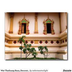 Wat Thatluang Baua, Decorated Buddhist Temple Postcard