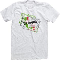 Passport Stamp Custom Spanish Club Español Espanol T-shirt Tee High School Design