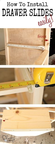 How to easily install drawer slides