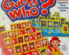 guess who faces board game box cover artwork