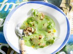 Broccolisoep met geroosterde bloemkool
