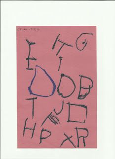 Writing the Alphabet - my 3 year old sons handwriting.