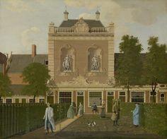 De tuin en het koetshuis van Keizersgracht 524 in Amsterdam, Hendrik Keun, 1772